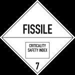 Gefahrzettel Klasse 7 (E), Folie, 100x100 mm