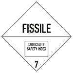 Gefahrzettel Klasse 7 (E), Folie, 250x250 mm