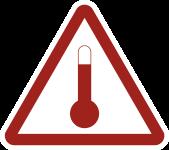 Gefahrzettel Stoffe, die im erwärmten Zustand befördert werden, Folie,250x250 mm