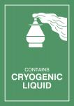 Gefahrzettel Tiefgekühlte Flüssigkeit, Folie, 74x105 mm