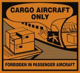 Nur für Frachtflugzeuge (Cargo Aircraft Only), Folie, 120x110 mm