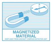Gefahrzettel Magnetisches Material (Magnetized Material), Folie, 110x90 mm
