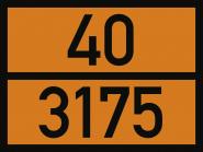 UN-Tafel mit Gefahr- und UN-Nummer nach Ihren Angaben, Folie, 400x300 mm