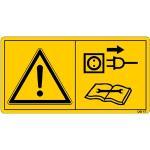 Vor Reparatur-, Wartungs- u. Reinigungsarbeiten ... ISO 11684, Folie,8,8x16,8 cm