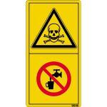 Vergiftungsgefahr - Kein Trinkwasser ISO 11684, Folie, 9,6x5 cm