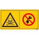 Vergiftungsgefahr - Kein Trinkwasser ISO 11684, Folie, 6x11,6 cm