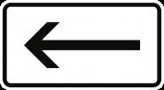 VZ1000-10, Richtung, linksweisend, Alu, RA1, 600x330 mm