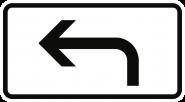 VZ1000-11, Richtung der Gefahrstelle, linksweisend, Alu, RA1, 420x231 mm