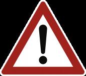 VZ101, Gefahrstelle, Alu, RA1, 450 mm SL