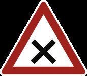 VZ102, Kreuzung oder Einmündung, Alu, RA1, 630 mm SL