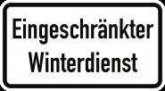 VZ2008, Eingeschränkter Winterdienst, Alu, RA1, 600x330 mm