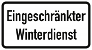 VZ2008, Eingeschränkter Winterdienst, Alu, RA2, 600x330 mm