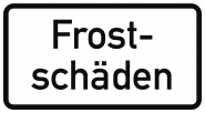 VZ2011, Frostschäden, Alu, RA1, 420x231 mm