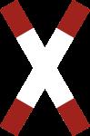 VZ201-50, Andreaskreuz stehend, Alu, RA1, 180x1350 mm