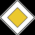 VZ306, Vorfahrtstraße, Alu, RA1, 420x420 mm