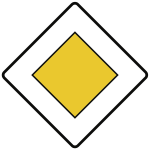VZ306, Vorfahrtstraße, Alu, RA1, 600x600 mm