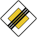 VZ307, Ende der Vorfahrtstraße, Alu, RA2, 420x420 mm