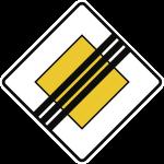 VZ307, Ende der Vorfahrtstraße, Alu, RA1, 420x420 mm
