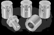 Edelstahl-Abstandshalter zur Wandmontage, für Klemmung 1 bis 6 mm, Ø 14 mm