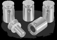 Edelstahl-Abstandshalter zur Wandmontage, für Klemmung 1 bis 12 mm, Ø 14 mm