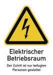Elektrischer Betriebsraum..., Kombischild, Folie, 131x185 mm