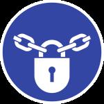 Verschlossen halten ISO 7010, Folie, Ø 100 mm
