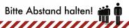 Fußbodenaufkleber Bitte Abstand halten!,Folie m. Acrylkleber,rutschh.,900x200 mm