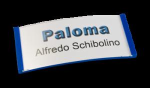 Paloma Win, Kunststoff Blau, 30mm hoch