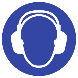 Gehörschutz benutzen ISO 7010, Folie, Ø 315 mm