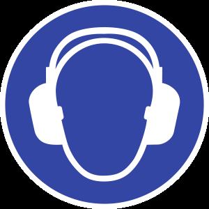 Gehörschutz benutzen ISO 7010, Kunststoff, Ø 200 mm