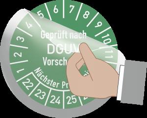 Transparentes Schutzlaminat für Prüfplaketten, Folie, Ø 30 mm, 10 Stück/Bogen