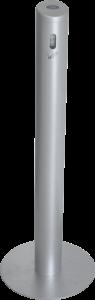 Standascher SMOKER, Alu, Schwarz, Ø 100 mm, Höhe 1041 mm