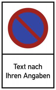 Eingeschränktes Haltverbot - Text nach Ihren Angaben, Alu, 400x650 mm