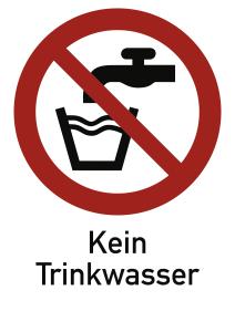 Kein Trinkwasser ISO 7010, Kombischild, Kunststoff, 210x297 mm