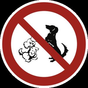 Hundeverbot, Alu, Ø 315 mm