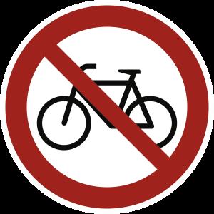 Verbot für Radfahrer, Folie, Ø 200 mm