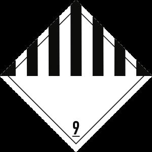 Gefahrzettel Klasse 9, Folie, 100x100 mm, 1000 Stück/Rolle