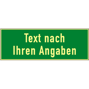 Rettungszeichen-Text u./o. Symbol nach Angabe, Folie, nachl., 160-mcd, 297x148mm