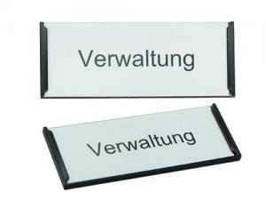 Schranktürschild Frame Kunststoff schwarz, 75mm