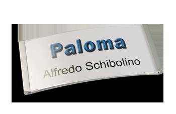 Paloma-Win Metalloptik Edelstahl matt galvanisiert, 34 mm hoch