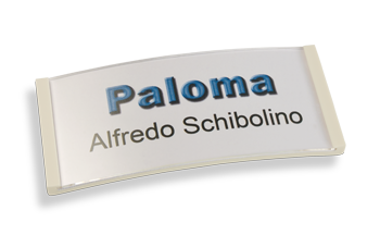 Paloma Win, Kunststoff weiß, 30mm hoch