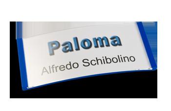 Paloma Win, Kunststoff Blau, 34mm hoch