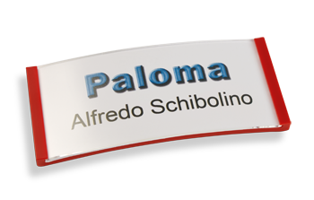 Paloma Win, Kunststoff Rot, 30mm hoch