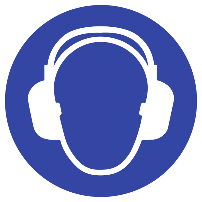 Gehörschutz benutzen ISO 7010, Folie, Ø 20 mm, 10 Stück/Bogen