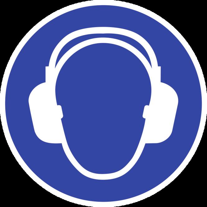 Gehörschutz benutzen ISO 7010, Kunststoff, Ø 400 mm
