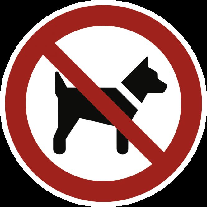 Mitführen von Hunden verboten ISO 7010, Alu, Ø 200 mm