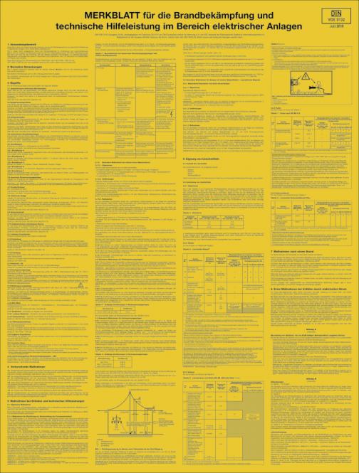 Merkblatt für die Brandbekämpfung und technische ..., Kunststoff, 500x660 mm