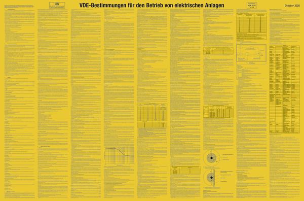 VDE-Bestimmungen für den Betrieb von elektr. Anlagen, Kunststoff, 1000x660 mm