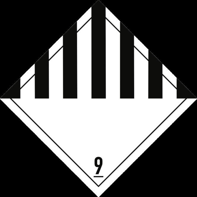 Gefahrzettel Klasse 9, Folie, 100x100 mm