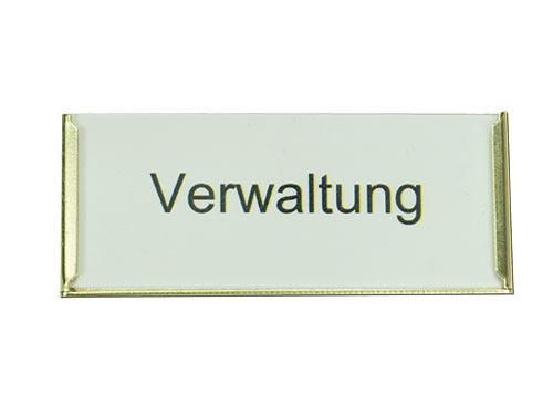 Schranktürschild Frame Alu Gold matt, 75mm